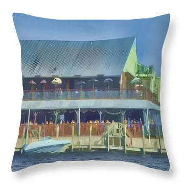Fisherman's Village Throw Pillow
