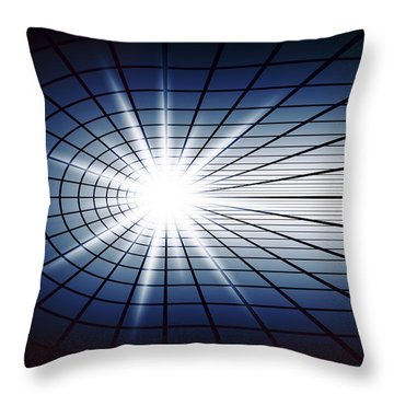 Fissile Detonation Abstract Throw Pillow by Daniel Hagerman