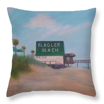 Flagler Beach Florida Throw Pillow