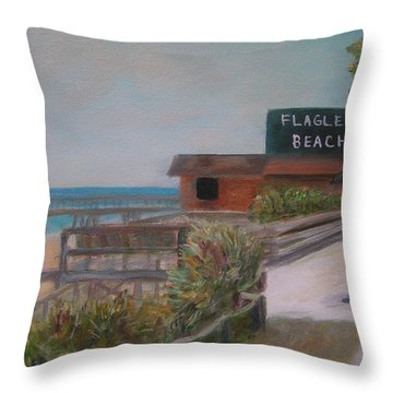 Flagler Beach Throw Pillow