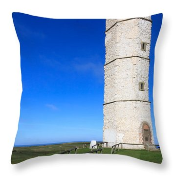 Flamborough Old Lighthouse Throw Pillow