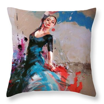 Flamenco 41 Throw Pillow