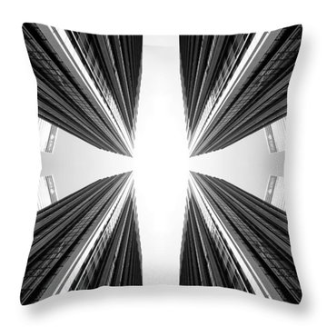 Throw Pillow featuring the photograph 6th Ave by Keith McGill