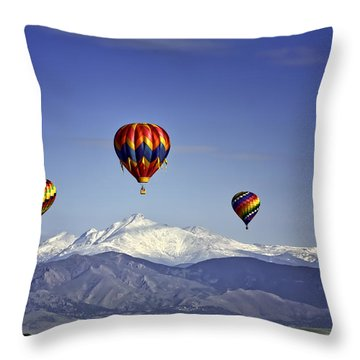 Floating Above Long's Peak Throw Pillow