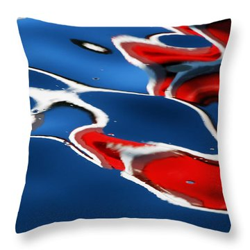 Floating On Blue 5 Throw Pillow