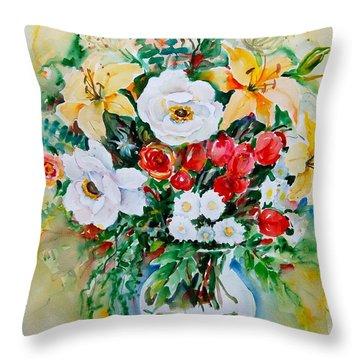 Floral Arrangement IIi Throw Pillow