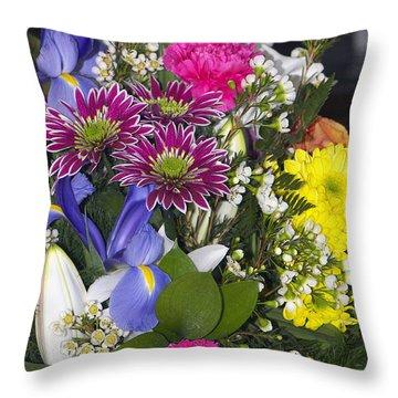Floral Bouquet 2 Throw Pillow