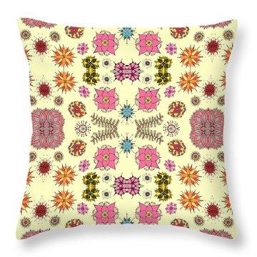 Floral Burst Throw Pillow