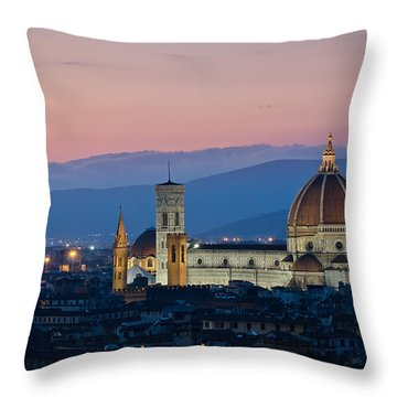 Florence At Sunset Throw Pillow