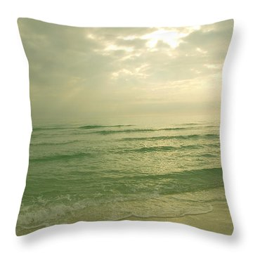 Throw Pillow featuring the photograph Florida Beach by Charles Beeler
