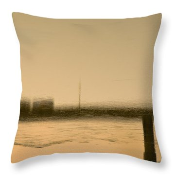 Flow Throw Pillow by KM Corcoran