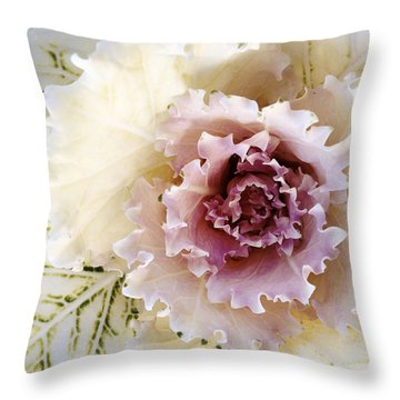 Flower Throw Pillow by Les Cunliffe