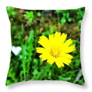 Yellow Flower Throw Pillow by Jason Michael Roust
