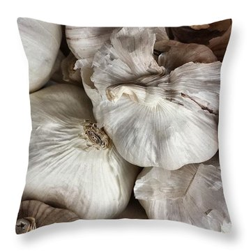 Garlic Throw Pillow by Jason Michael Roust