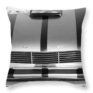 Ford Mustang Grille Throw Pillow by Jill Reger