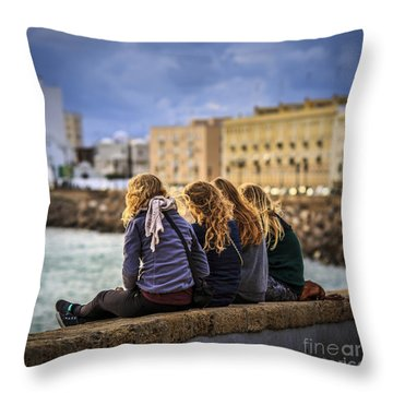 Foreign Students Cadiz Spain Throw Pillow