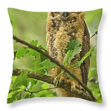 Forest King Throw Pillow