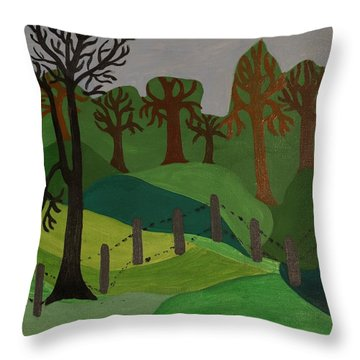 Forest Moderna Throw Pillow