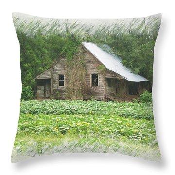 Forgotten Homestead Throw Pillow