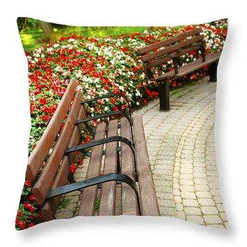 Formal Garden Throw Pillow by Elena Elisseeva