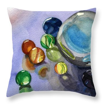 Found My Marbles Throw Pillow