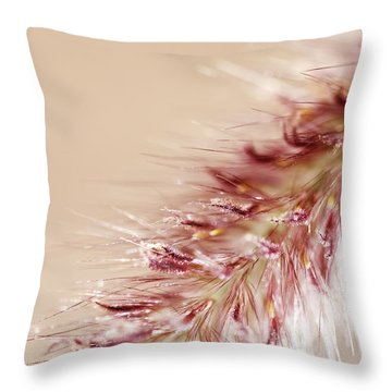 Fountain Grass Blooms   Throw Pillow