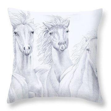 Four For Freedom Throw Pillow by Joette Snyder