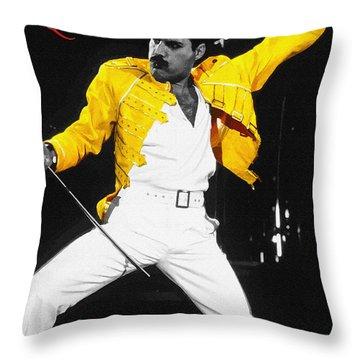 Freddie Mercury Live In Wembley1986    Throw Pillow