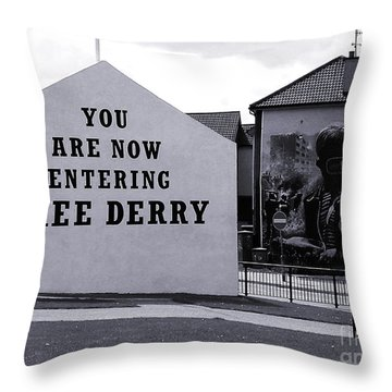 Free Derry Corner 7 Throw Pillow