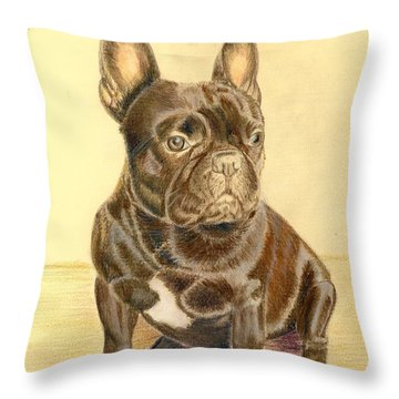 French Bulldog Throw Pillow by Ruth Seal