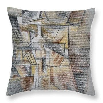 Throw Pillow featuring the digital art French Curves 4 by Clyde Semler