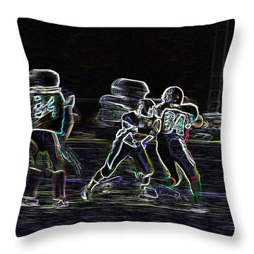 Throw Pillow featuring the photograph Friday Night Under The Lights by Chris Thomas