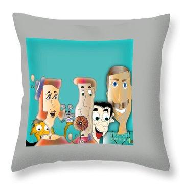 Friendship Throw Pillow by Iris Gelbart