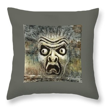 Fright Throw Pillow by Suzette Broad