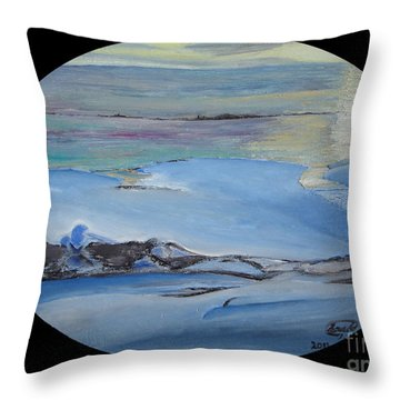 Frozen Throw Pillow by Saad Hasnain