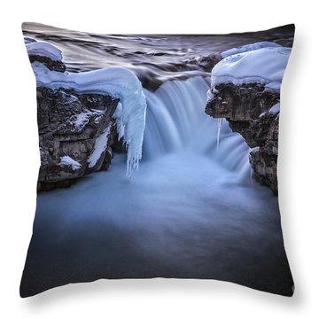 Frozen Splendor Throw Pillow