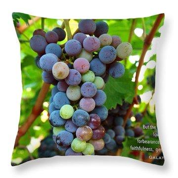 Fruit Of The Spirit Throw Pillow by Lynn Hopwood