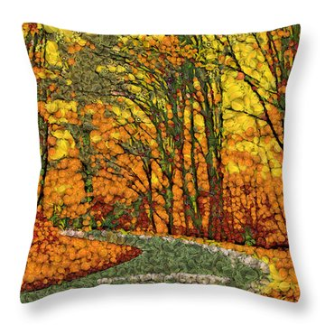 Fruits And Vegetables Forest Throw Pillow