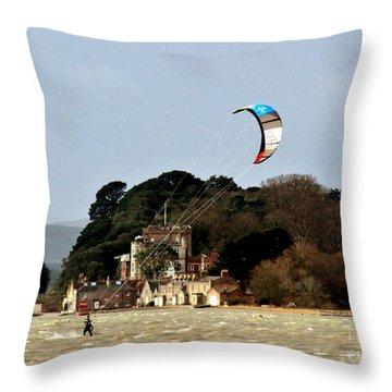 Fun On Windy Day Throw Pillow by Katy Mei
