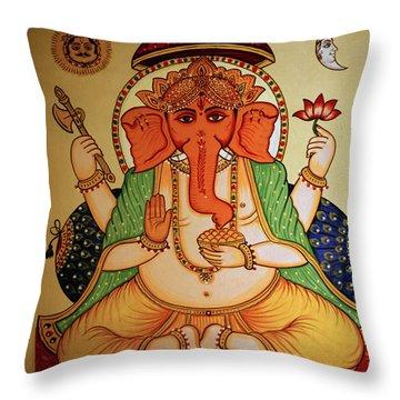 Spiritual India Throw Pillow