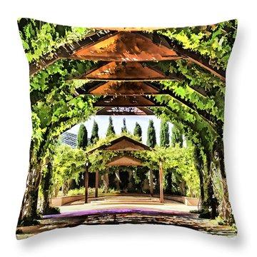 Throw Pillow featuring the painting Garden by Muhie Kanawati
