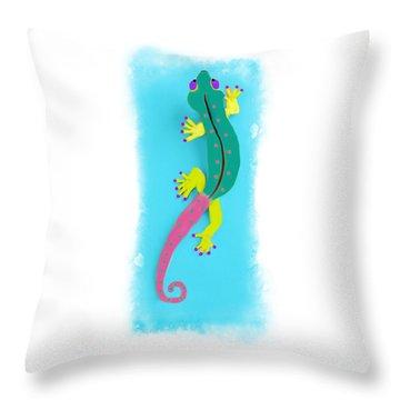Gecko Two Throw Pillow