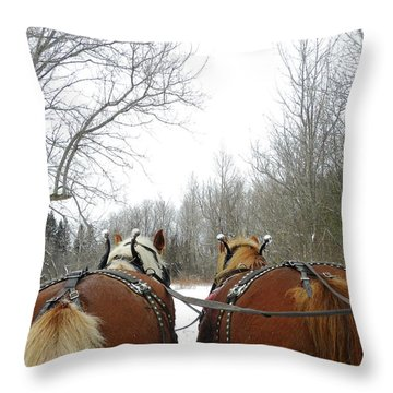 Gee And Haw Throw Pillow