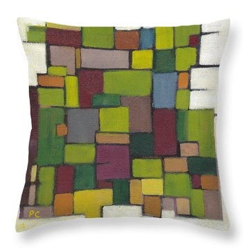 Geometric Line Series Throw Pillow by Patricia Cleasby