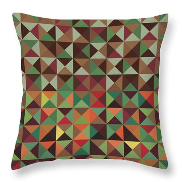 Throw Pillow featuring the digital art Geometric Pattern by Mike Taylor