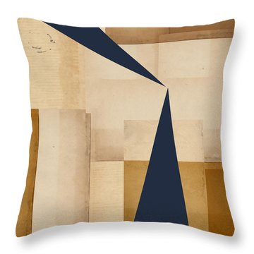 Geometry Indigo Number 5 Throw Pillow