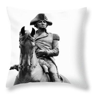 George Washington Statue Boston Ma Throw Pillow