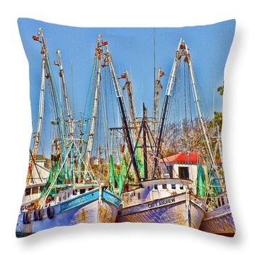 Georgetown Shrimpers Throw Pillow