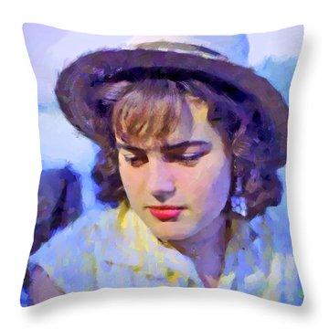 German Girl On The Rhine Throw Pillow
