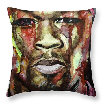 Throw Pillow featuring the painting Get Rich Or Die Tryin' by Laur Iduc
